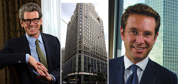 From left: Anthony Malkin, 1350 Broadway and CBRE's Paul Amrich