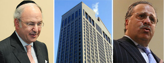 From left: David Bistricer, the Sony Building at 550 Madison Avenue and Joseph Chetrit