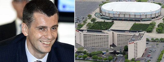 From left: Mikhail Prokhorov and Nassau Coliseum