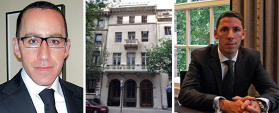 From left: Adam Modlin, 19 East 70th Street and Christian Candy