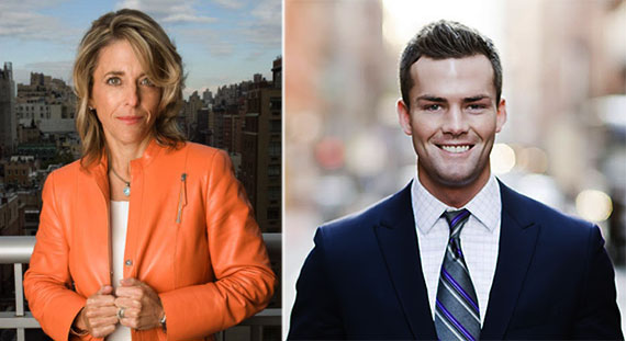 From left: Corcoran's Pamela Liebman and Ryan Serhant of MDLNY