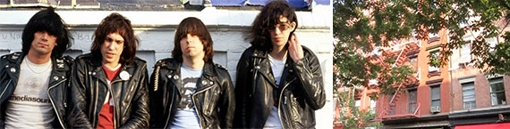 The Ramones in Schott biker jackets and 236 Elizabeth Street