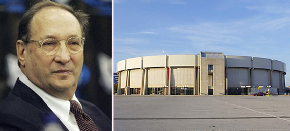 From left, Bruce Ratner, the Nassau Coliseum