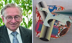 Larry Silverstein and a Frank Stella painting