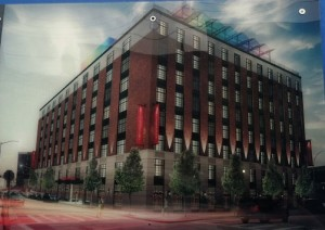 A rendering of the Crowne Plaza at 4231-4235 Crescent Street