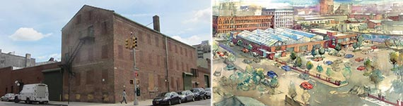 From left: 529 Third Avenue and a rendering of the Brooklyn Whole Foods