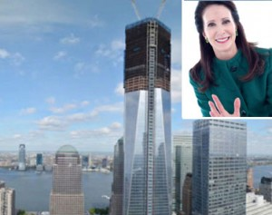 One World Trade Center and Tara Stacom (inset)