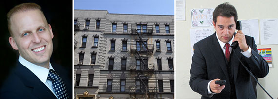 From left: Meyer Orbach, 65 West 107th Street and Aaron Jungreis