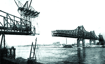 The under-construction Queensboro Bridge