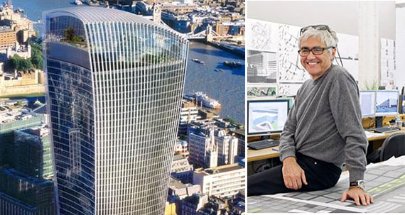 Rafael Vinoly and the Walkie Talkie tower in London