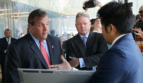 Gov. Chris Christie with Panasonic executives