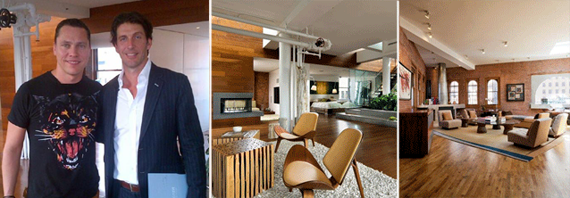 Tiesto, Gordon Von Broock and the Broadway and Hudson Street penthouses