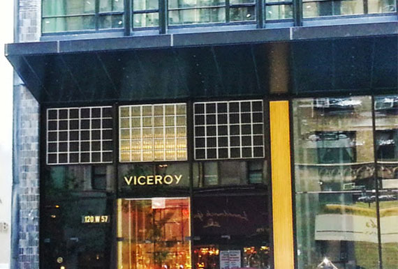An exterior shot of the Viceroy Hotel at 120 West 57th Street