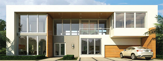 A rendering of a home in the Terra Group's Modern Doral community