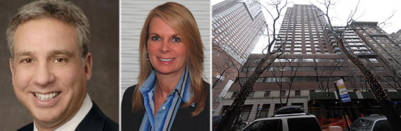 From left: Cushman & Wakefield's Josh Kuriloff, Jodi Roberts and 157-167 Columbus Avenue