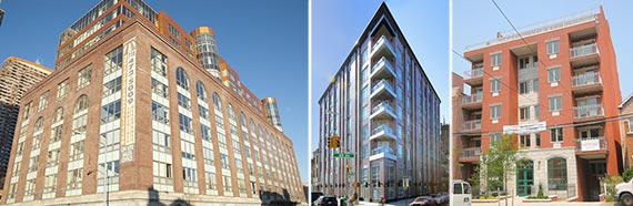 From left: 2-17 51st Avenue, 10-63 Jackson Avenue and 23-23 31st Avenue