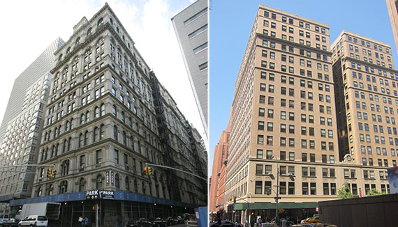 From left: 346 Broadway and 40 Worth Street