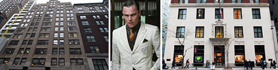 11 East 44th Street, Leonardo DiCaprio in Brooks Brothers and 346 Madison Avenue