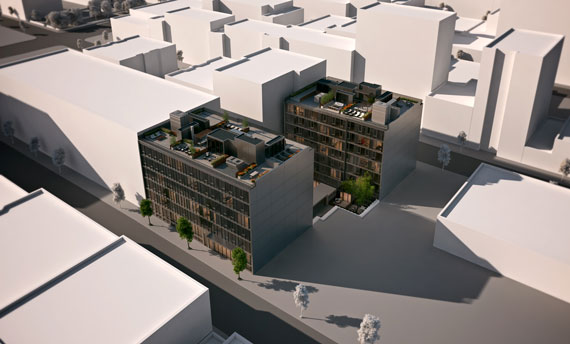 Aerial rendering of 540West