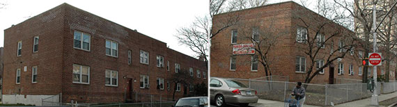 From left: 652-668 Brooklyn Avenue and 651-667 Brooklyn Avenue