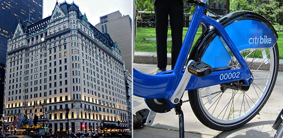 From left: 768 Fifth Avenue and a Citi Bike