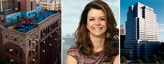 From left: 375 Pearl Street, MaryAnne Gilmartin and One MetroTech Center