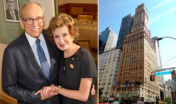 From left: Burt Resnick, Judy Resnick and 465 Park Avenue