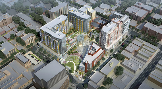 Flushing Commons rendering
