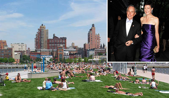 Hudson River Park, Michael Bloomberg and Diana Taylor (inset)