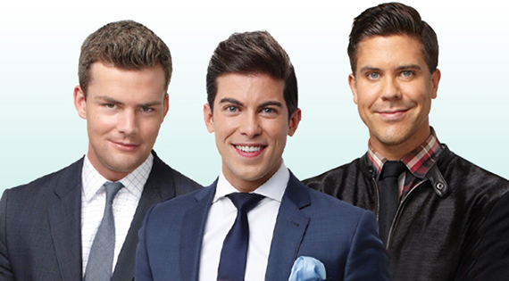 From left: Ryan Serhant, Luis D. Ortiz and Fredrik Eklund
