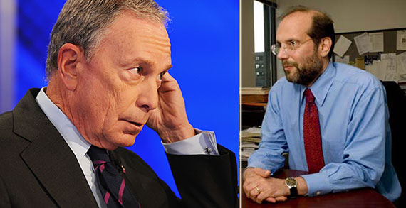 From left: Michael Bloomberg and Attorney Steven Banks