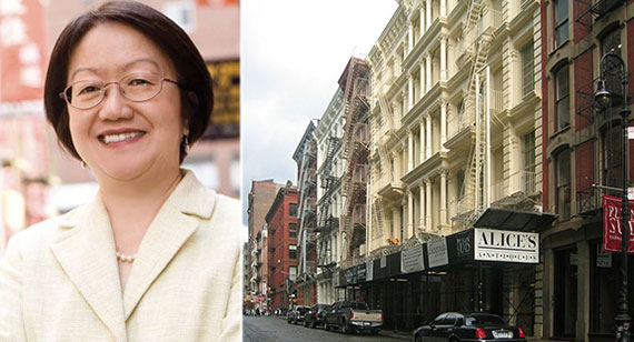 From left: Margaret Chin and Green Street in Soho
