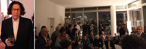 From left: Fran Lebowitz and guests gathered in the Standard penthouse