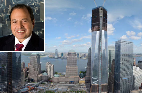 Douglas Durst and One World Trade Center (right)