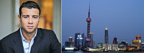 From left: Raphael De Niro and the Bund, Shanghai