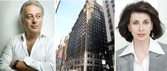 From left: Aby Rosen, 285 Madison Avenue (credit; PropertyShark) and Mary Ann Tighe