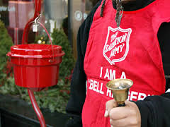 A Salvation Army volunteer