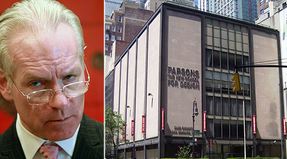 From left: Project Runway's Tim Gunn and 560 Seventh Avenue