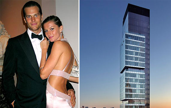 From left: Tom Brady, Gisele Bundchen and One Madison Park