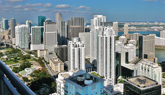 A view of Brickell