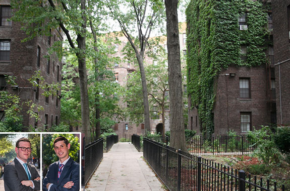 Dunbar Manor at 246 West 150th Street (inset from left: Samuel Berry and Andrew Melohn)