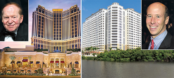 From left: Sheldon Adelson, the Palazzo Resort Hotel Casino, the Westin Resort and Barry Sternlicht