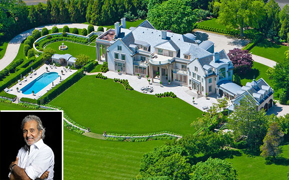 The Villa Maria estate in Water Mill (inset: Vince Camuto)