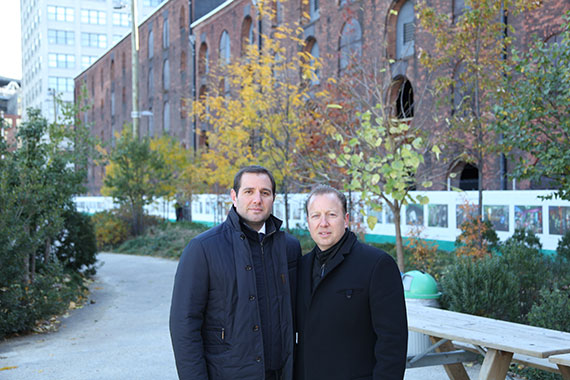 From left: Michael and Jack Cayre outside Empire Stores (Photo credit: Adam Pincus)