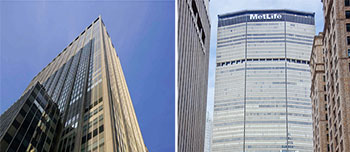 From left: 1301 Avenue of the Americas and 200 Park Avenue