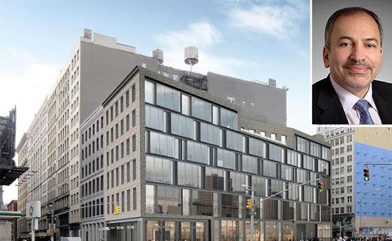 A new rendering of 19 East Houston Street and Perkins Eastman's Navid Maqami