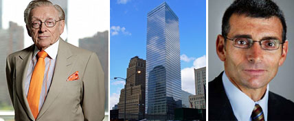 From left: Larry Silverstein, 7 World Trade Center and Mark Weiss