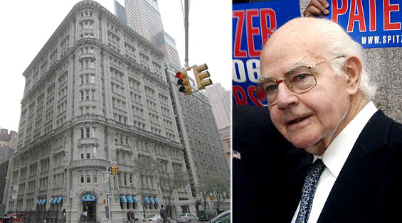 From left: 911 Seventh Avenue and Bernard Spitzer