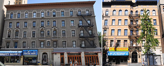 From left: 936 and 940-942 Amsterdam Avenue