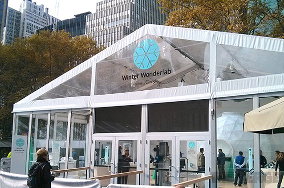 Google's Winter Wonderlab in Bryant Park